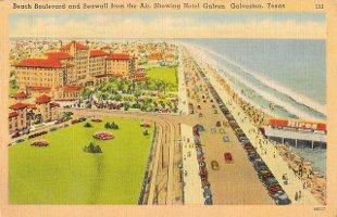 Vintage postcard of Galveston, Texas