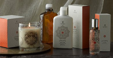 Thymes Lotus Santal fragrance range