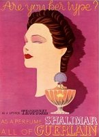 Guerlain Shalimar vintage advert, are you her type