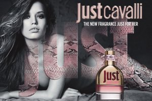 Roberto Cavalli Just Cavalli advert with Georgia Jagger