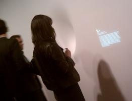 Art of Scent exhibit, main room, wall text