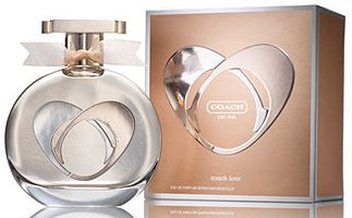 Coach Love perfume packaging