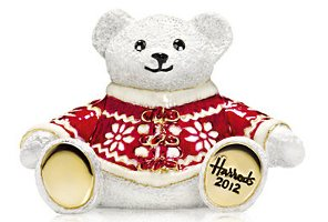 Harrods bear with Estee Lauder Beautiful solid perfume