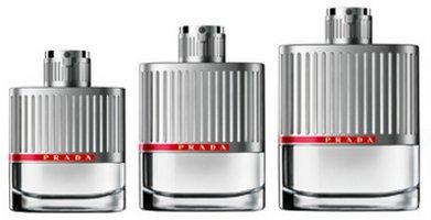 Prada Luna Rossa, fragrance bottles