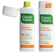 CleanWell All-Natural Hand Sanitizer Orange Vanilla