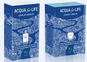 Acqua for Life editions of Acqua di Giò and Acqua di Gioia
