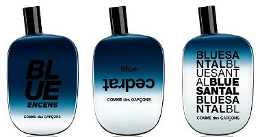 Comme des Garçons Blue Invasion Blue Encens, Blue Cedrat and Blue Santal