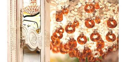 Bijan's perfume bottle chandelier