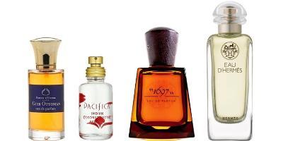 Parfum d'Empire Cuir Ottoman, Pacifica Indian Coconut, Frapin 1967, Hermès Eau d'Hermès
