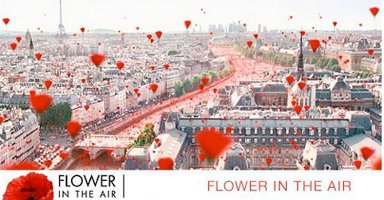 Kenzo Flower in the Air, banner advert