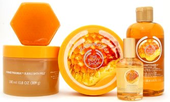 The Body Shop Honeymania product line