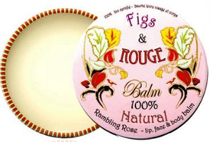 Figs & Rouge lip balm tin in Rambling Rose