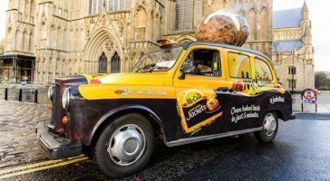 McCain potato scented taxi