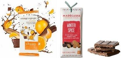 Chuao Orange-a Go-Go and Madecasse Winter Spice bars