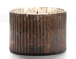 Illume mercury glass 3-wick candle in Woodfire