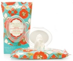 Pacifica Lotion Wipes in Indian Coconut Nectar