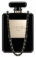 Chanel perspex perfume clutch, black