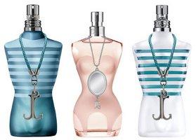 Jean Paul Gaultier collector bottles trio