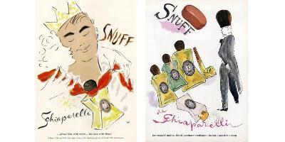 2 Schiaparelli Snuff adverts