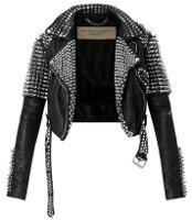 Burberry Brit Rhythm studded leather jacket