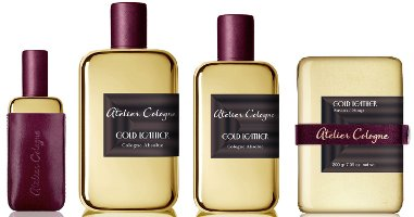 Atelier Cologne Gold Leather range