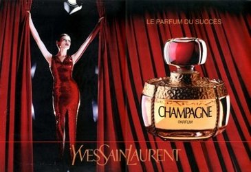 Yves Saint Laurent Champagne advert