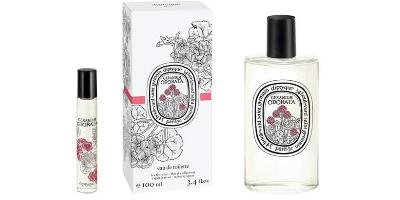 Diptyque Geranium Odorata, rollon and bottle