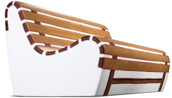 Summertime sofa, Gufram + Valerio Berruti