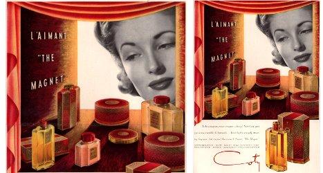 Coty L'Aimant, vintage advert