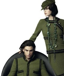 Chanel fashion advert, Karl Lagerfeld