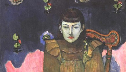 Bildnis Vaiite (Jeanne) Goupil, detail, Paul Gauguin