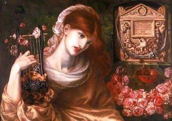 Dante Gabriel Rossetti, Roman Widow, detail