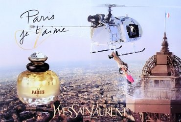 Yves Saint Laurent Paris advert