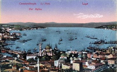 Postcard of Constantinople: the Harbor