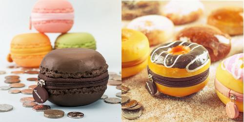 Firebox coin purses, macaron and doughnut