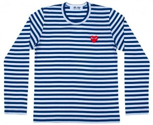 Comme des Garçons Play striped tee