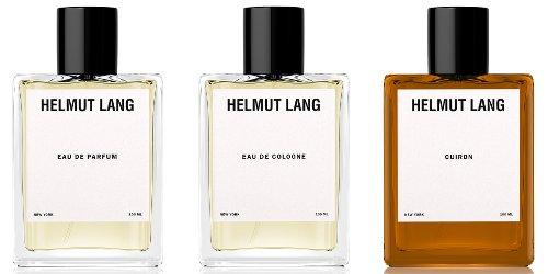 Helmut Lang Eau de Parfum, Helmet Lang Eau de Cologne and Cuiron