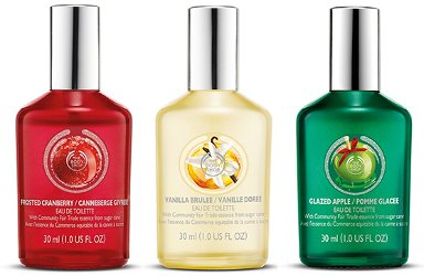 The Body Shop Frosted Cranberry, Vanilla Brulee & Glazed Apple