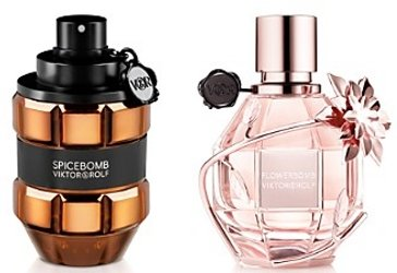 Viktor and Rolf Spicebomb Copper edition and Flowerbomb Flower Snowflake edition