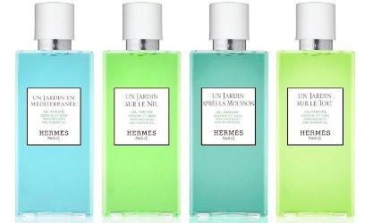 Hermès shower gels Jardin series