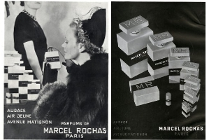 Vintage Rochas perfumes adverts