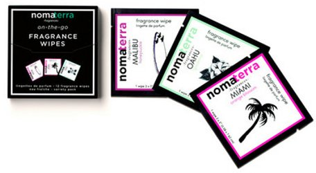 Nomaterra Getaway On-The-Go Fragrance Wipes Variety Pack