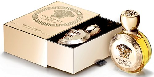 Versace Eros Pour Femme, fragrance packaging