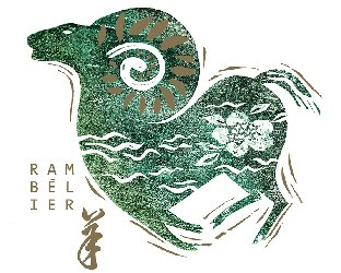 Chinese New Year stamp, Canada, detail