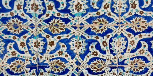 Tile squares, Hammam at Kerman Iran