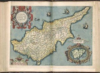 Cyprus Lemnos), Theatrum Orbis Terrarum by Abraham Ortelius
