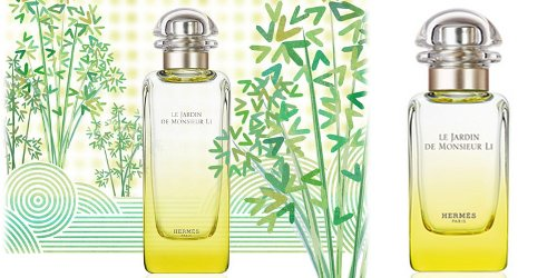 Hermès Le Jardin de Monsieur Li, brand drawing and bottle