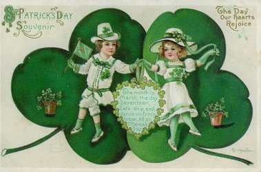 Happy St Patrick's Day vintage postcard