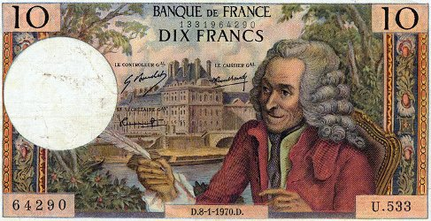 Voltaire bank note
