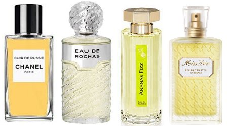 Chanel Cuir de Russie, Eau de Rochas, Ananas Fizz and Miss Dior